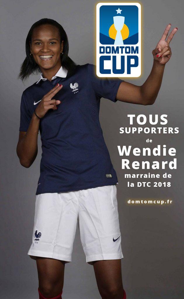 Wendie Renard, marraine de la Dom Tom Cup 2018